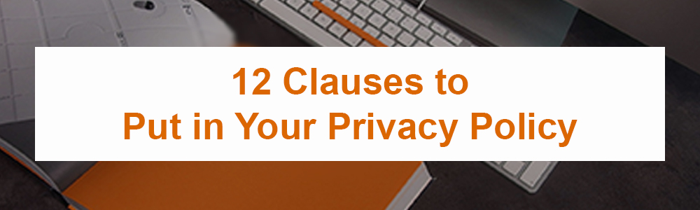 12 Clauses to Put in Your Privacy Policy