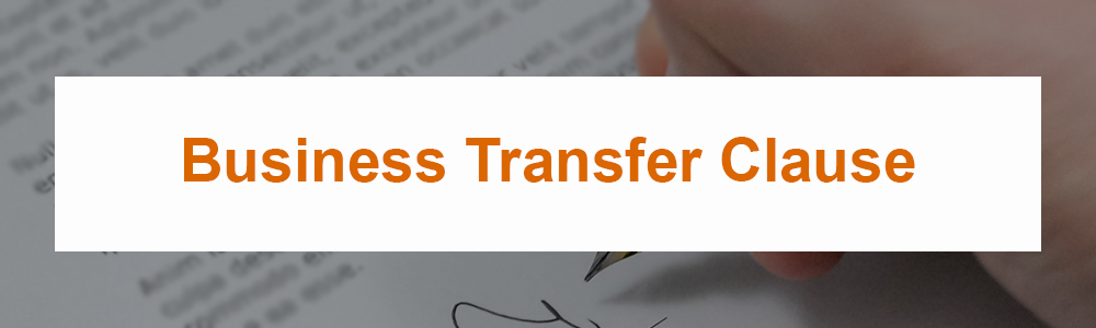 Business Transfer Clause