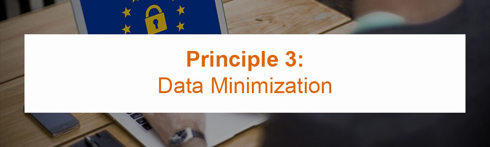 Principle 3: Data Minimization