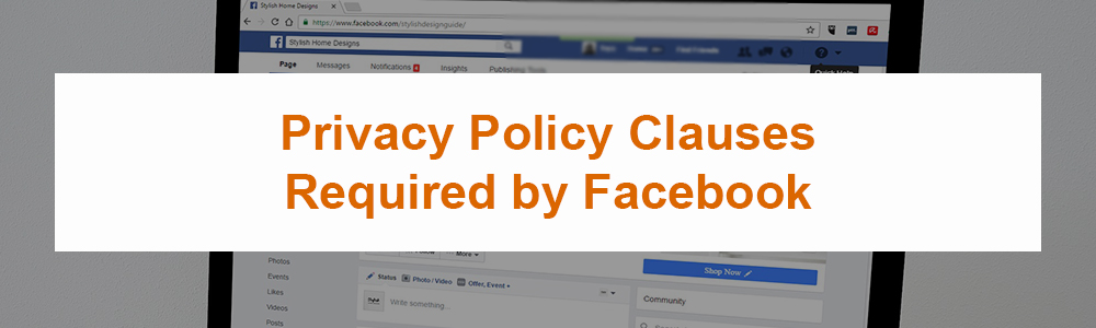 Privacy Policy Clauses Required by Facebook