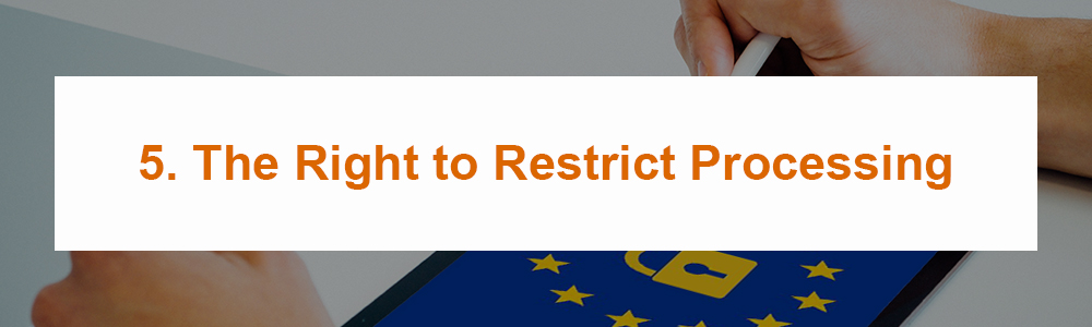 5. The Right to Restrict Processing