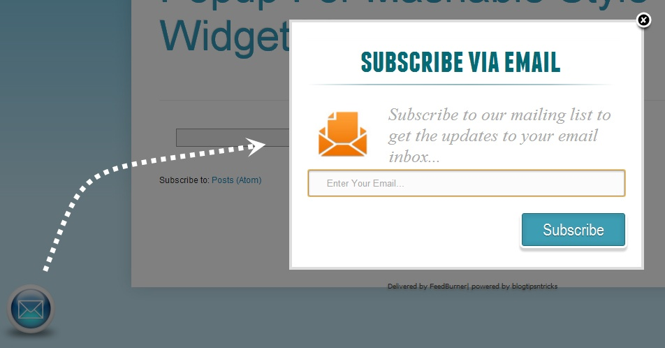 Example of Email Subscription Form in Blogger - BlogSpot