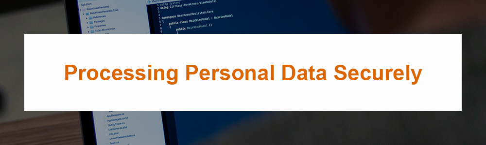 Processing Personal Data Securely