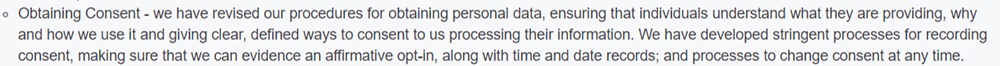 SNOMED International GDPR Compliance Statement: Obtaining Consent section