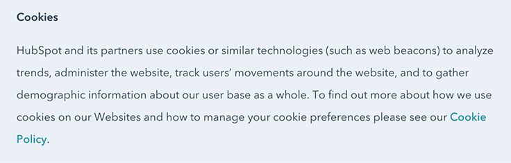 Hubspot-privacy-policy-cookies-clause