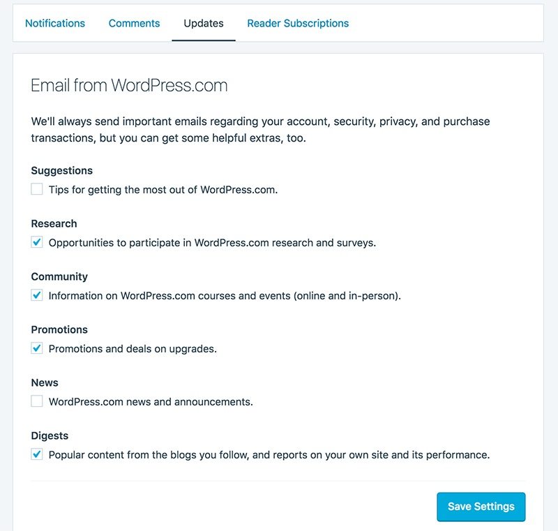 Jetpack Privacy Policy: Email updates consent form