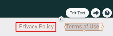 Wix Support: Add a Privacy Policy - Step to name the footer link