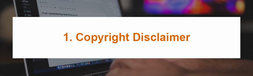 1. Copyright Disclaimer