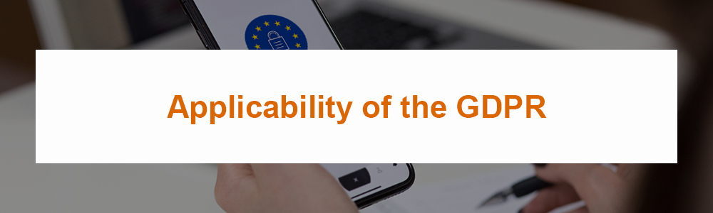 Applicability of the GDPR