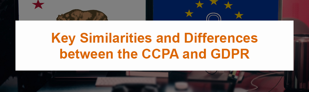 Key Similarities and Differences between the CCPA and GDPR