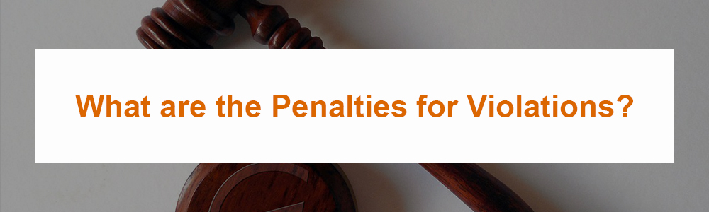 What are the Penalties for Violations?