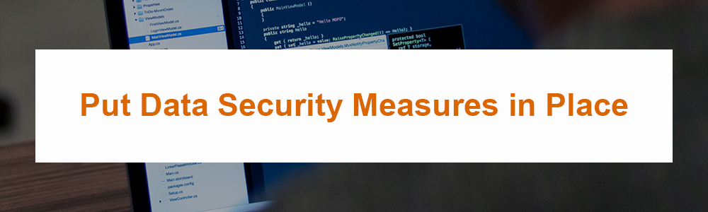 Put Data Security Measures in Place