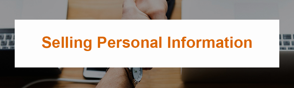 Selling Personal Information