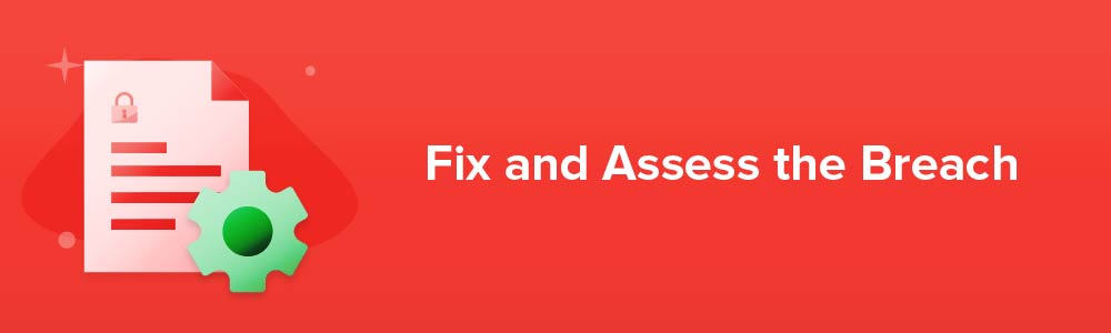 Fix and Assess the Breach